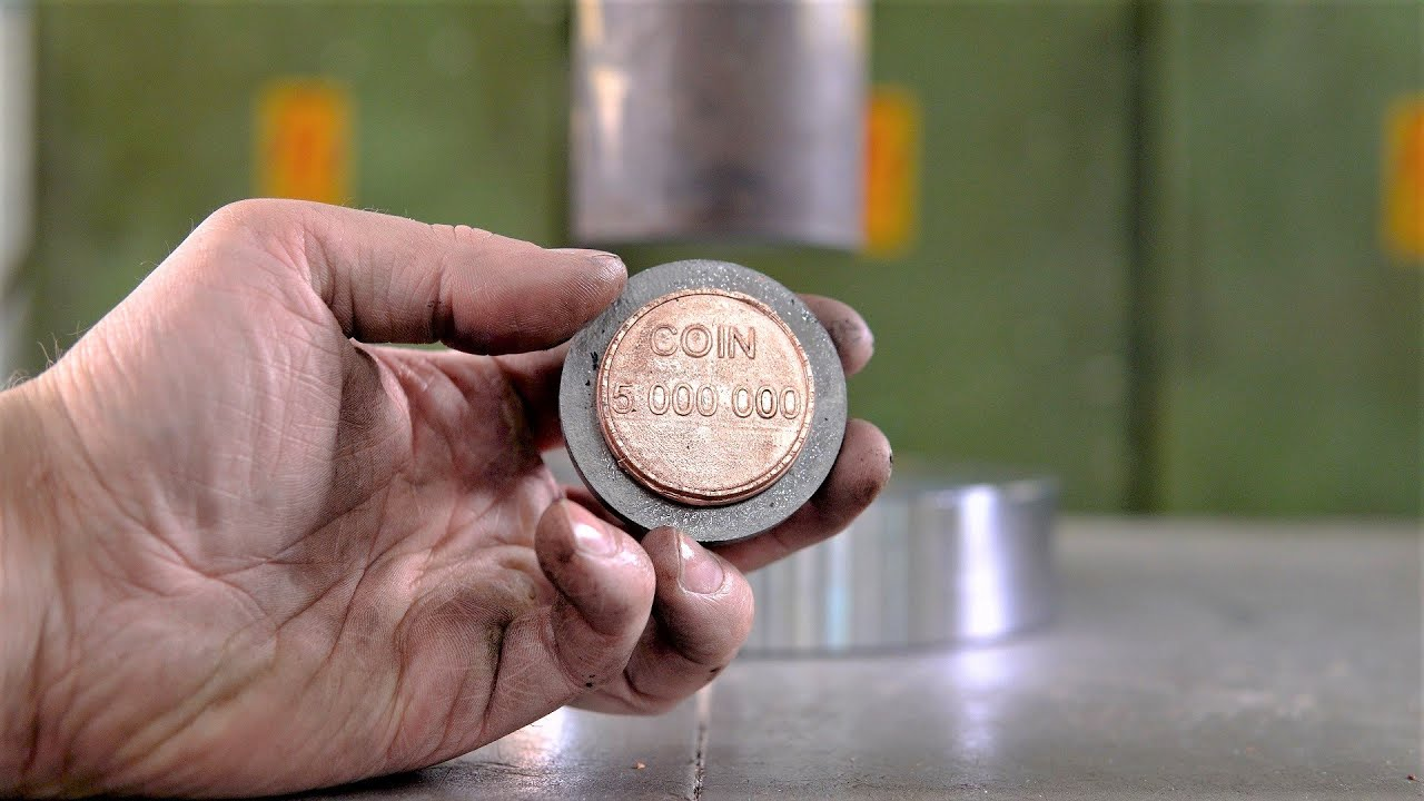 Making Coins with 150 Ton Hydraulic Press