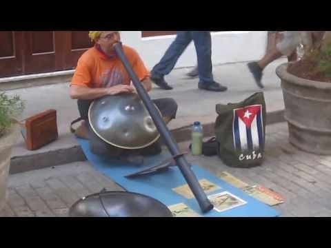 Hang drum & Didgerido Player  - old havana
