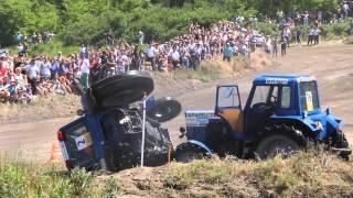 Трактор перевернулся Бизон трек Шоу 2015