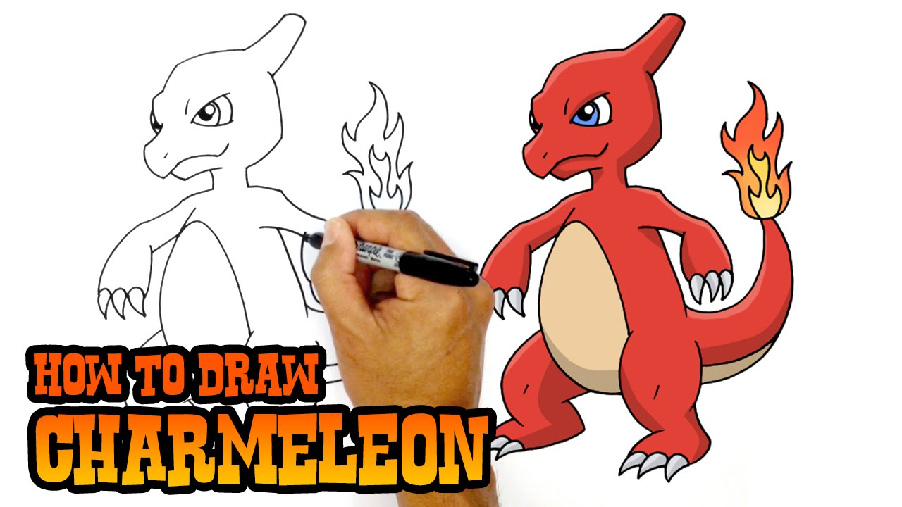 How To Draw Charmeleon Pokemon Youtube