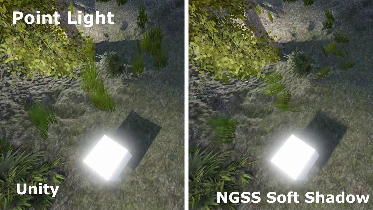 Unity 2017: Unity Shadow vs NGSS Soft Shadow