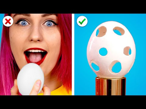CRAZY EGG TRICKS! 19 Cool Egg Hacks & Easter Ideas By Crafty Panda