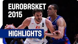 Spain v France - Semi-Final - Game Highlights - EuroBasket 2015