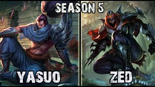 Best Yasuo Korea vs Zed MID Ranked Challenger