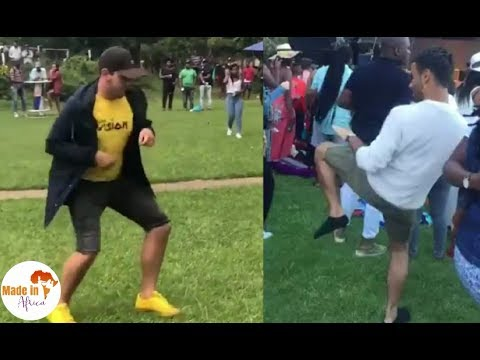 The White guys of South Africa Crazy Dance Moves