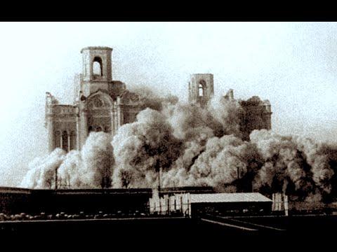 Первый взрыв, 12.00, 5 декабря, суббота, 1931 Храм Христа Спасителя устоял. Потом еще 5 взрывов.