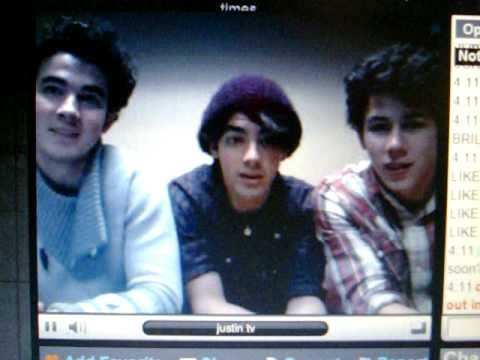brothers chat All four of the jonas brothers squeezed into the video frame to take part in the live chat that took .
