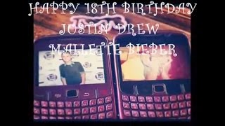 HAPPY 18TH BIRTHDAY JUSTIN BIEBER ♥