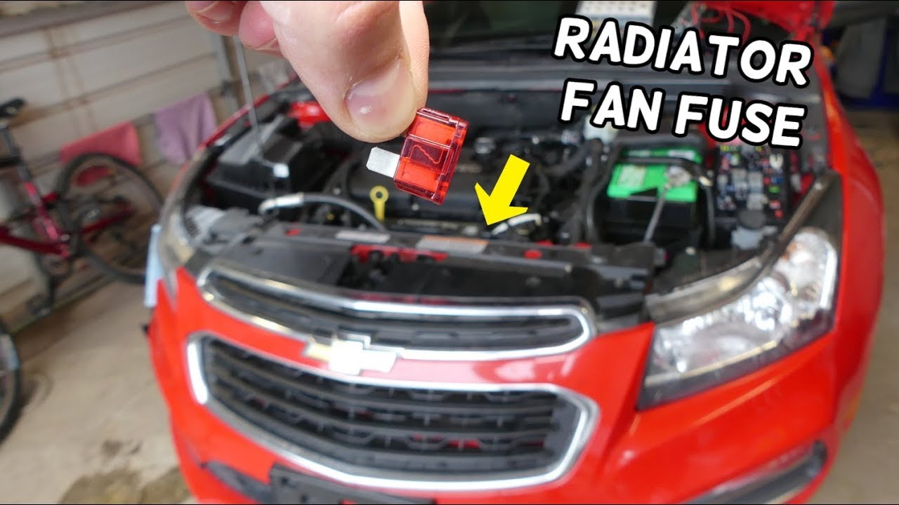 CHEVROLET CRUZE RADIATOR FAN FUSE LOCATION REPLACEMENT. RADIATOR COOLING on