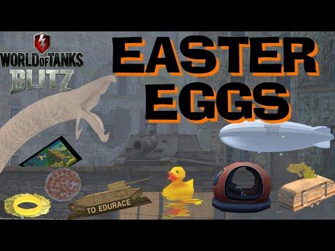 World Of Tanks Blitz All EASTER EGGS
