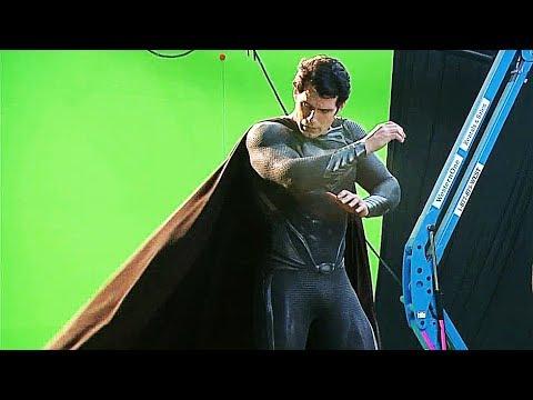 Real Black Superman Suit In 'Man Of Steel' Behind The Scenes