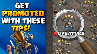...watch this if you want to get promoted!! Clan League Tips in Clash of Clans!