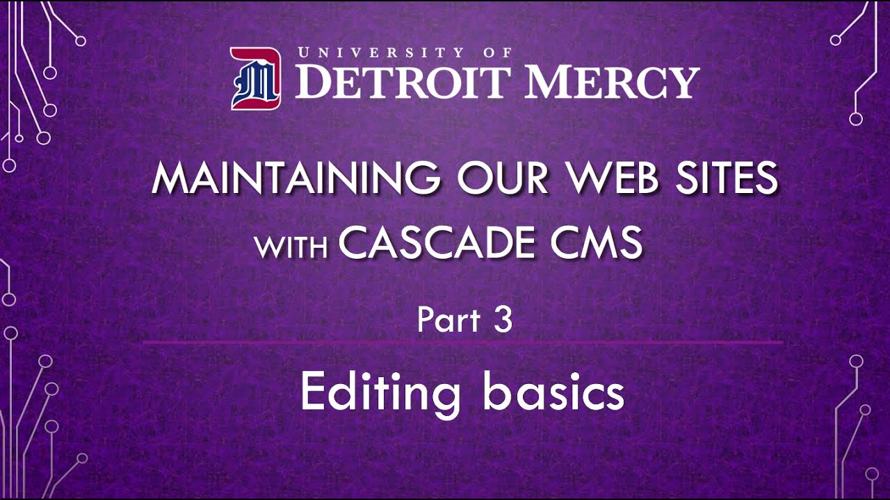 Cascade training video 3