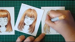 Coloring hair with Copic Markers