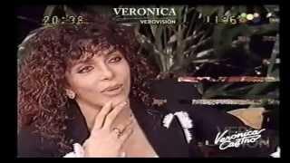 Verónica Castro en el programa de Susana Giménez en 1999