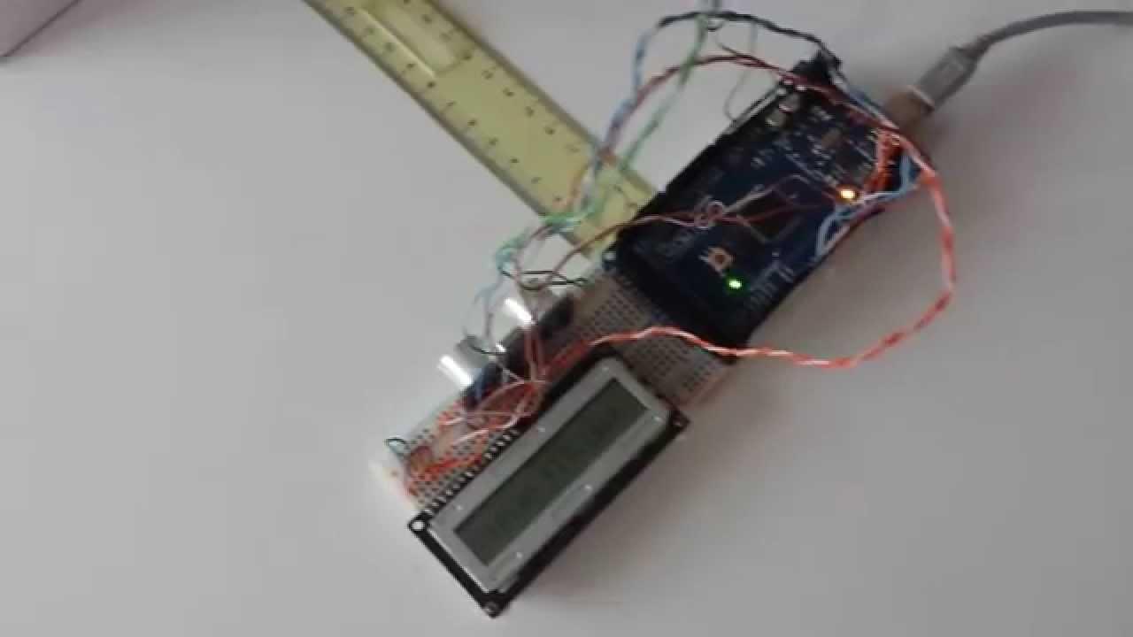 Distance sensor arduino hc sr module lcd sharp lm