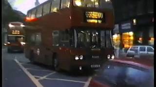 London Buses-Aldwych Christmas 1985-Routemasters, Titans, Nationals & More