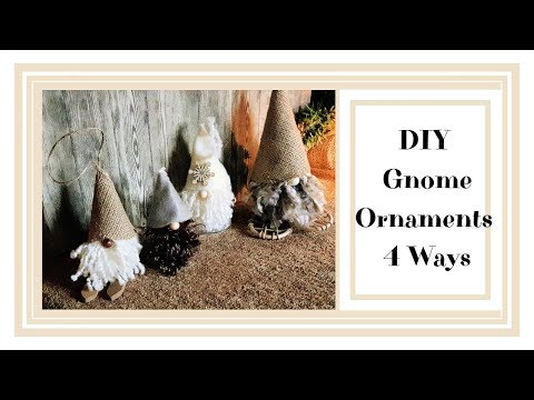 DIY Gnome   Ornaments 4 ways   Day 5 of my DIY Christmas Ornament series