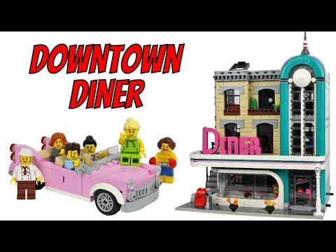 LEGO Downtown Diner 10260 Modular Building Review!