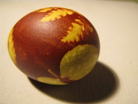 Easter egg painting - very old Latvian method.