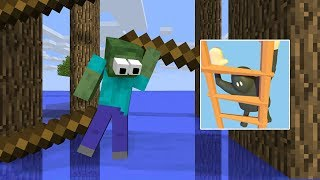 Monster School : CLUMSY CLIMBER CHALLENGE - Minecraft Animation