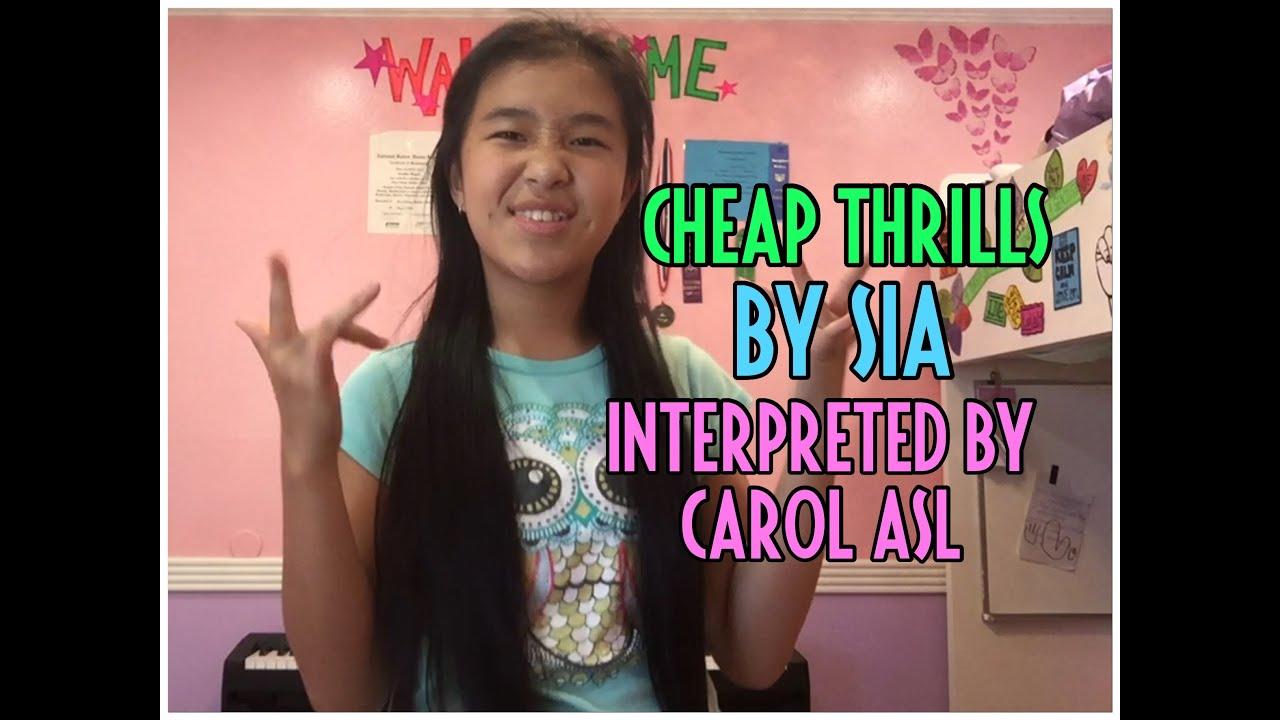 Cheap Thrills (Sia) - ASL - YouTube