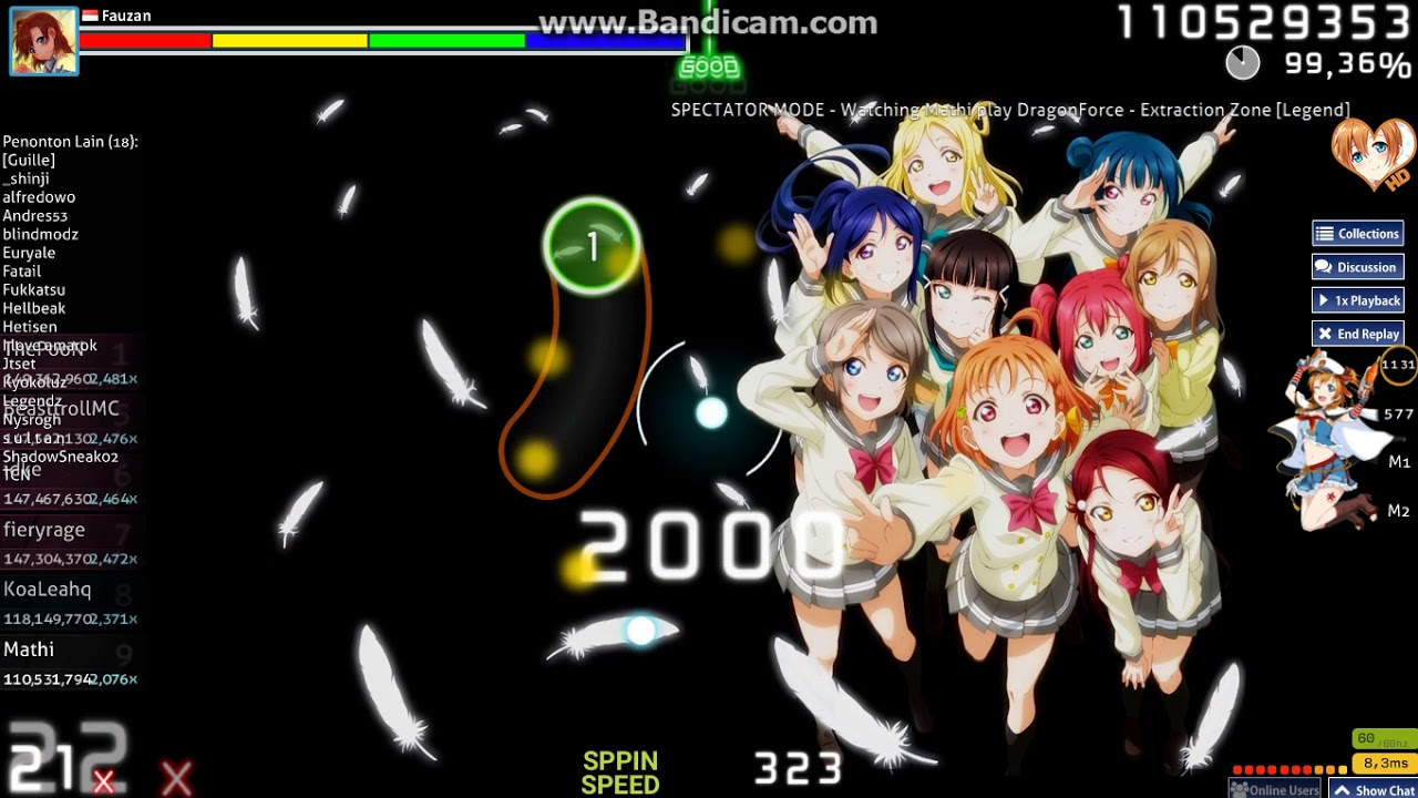 Osu Mathi Dragonforce Extraction Zone Legend Hd 98 96 5 Miss Live Spectate Youtube