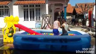 Swimming, having fun with the little grandchilds