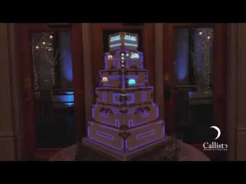 Projection Mapped Wedding Cake | Callisto Sound & Lighting