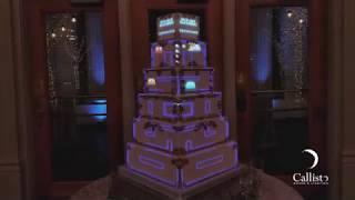 Projection Mapped Wedding Cake | Callisto Sound & Lighting