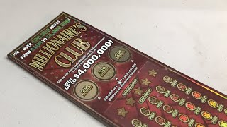 FULL BOOK $30 MILLIONAIRES CLUB MICHIGAN LOTTERY TICKETS LIVE NOW