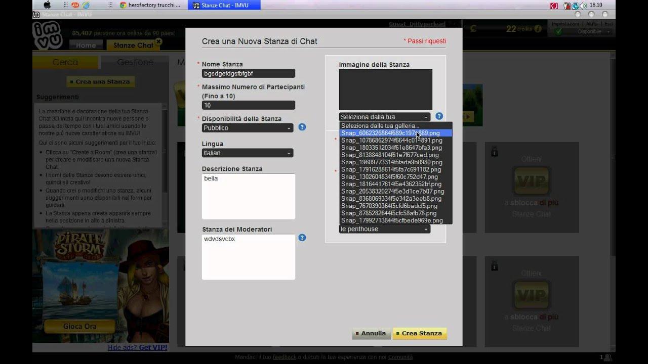 Come creare una stanza su imvu youtube for Creare una stanza