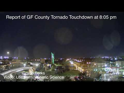 Report Of Tornado Touchdown In Grand Forks County, Near Gilby