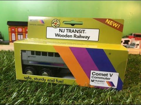 Unboxing Nj Transit Comet V Commuter Munipals Wooden Toy Train