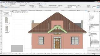 ARCHICAD  project home lessons 13. ( Подрезка крыши. Ручная)