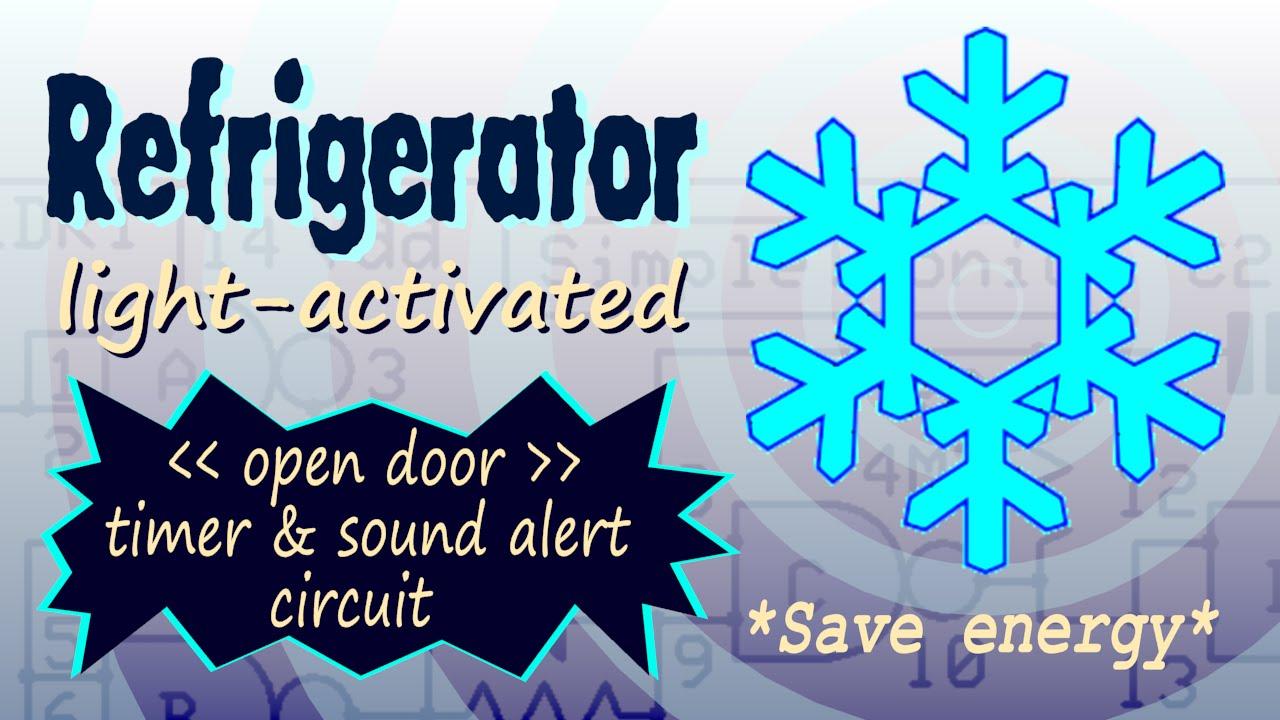 Fridge Door Alarm Circuit Simple Refrigerator Eleccircuitcom