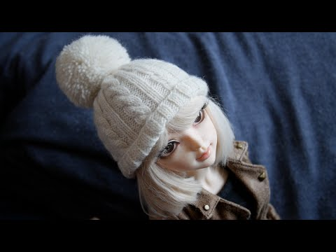 Knitting Pattern For A Dolls Hat : How to knit a doll hat - YouTube