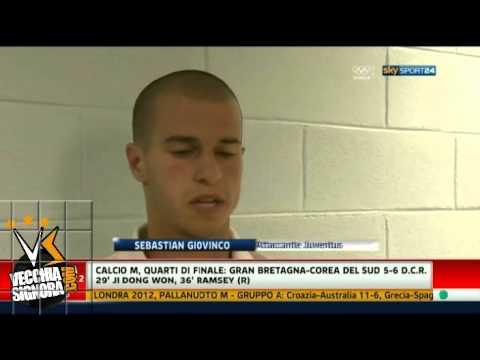 Intervista Giovinco post amichevole Juventus Malaga 2 0