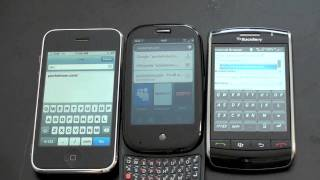 Palm Pre vs. iPhone 3G vs.  Blackberry Storm