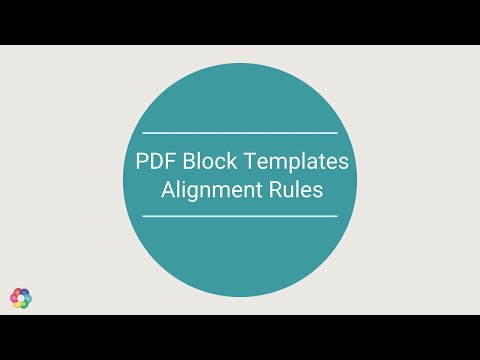 PDF Block Template : Alignment Rules