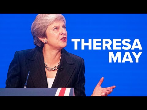 Theresa May gives the keynote speech at Conservative Party Conference 2018