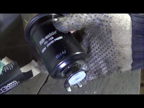 toyota corolla 2002 топливный фильтр