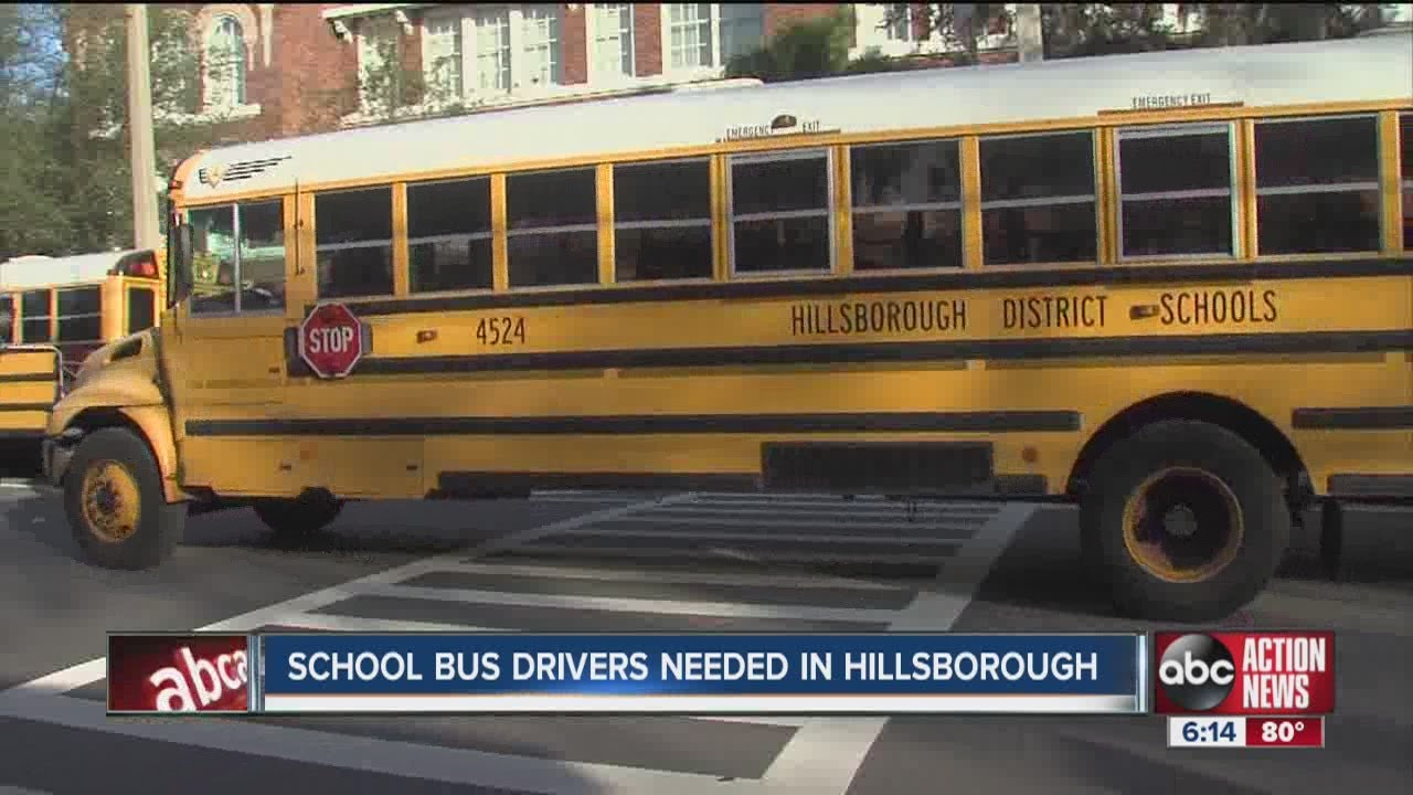 School bus drivers needed for Hillsborough County School ...