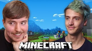 MrBeast Plays Minecraft with Ninja for $10,000 Prize!