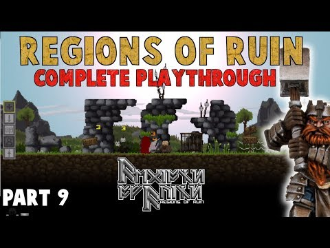 "Regions of Ruin - ""Ultimate Town!"" - Complete Playthrough Part 9 (2D Open World RPG) KINGDOM-like?"