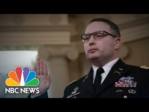 One-On-One With Lt. Col. Alexander Vindman   NBC Nightly News