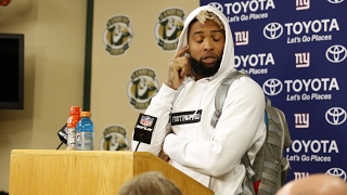 Odell Beckham Jr. Punches Hole in Wall