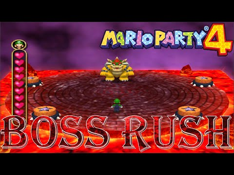 Mario Party 4 - Boss Rush (All Story Minigames, No Damage)