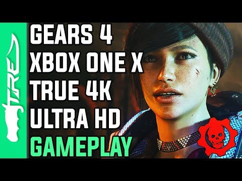 Gears of War 4 XBOX ONE X Gameplay - 7 Minutes of 4K Ultra HD Gameplay (Gears of War 4 Xbox One X)