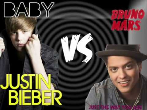Justin Bieber - Baby VS Bruno Mars - Just the way you are